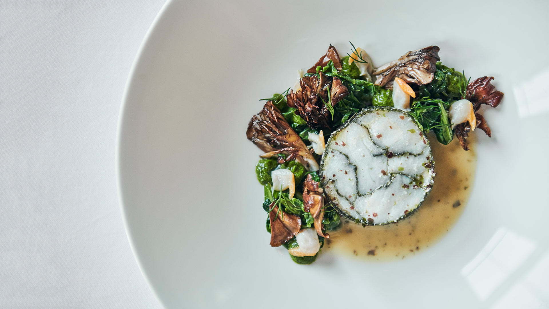 Day-boat-Cornish-cod,-sea-herbs,-cockles,-hen-of-the-wood-1920x1080